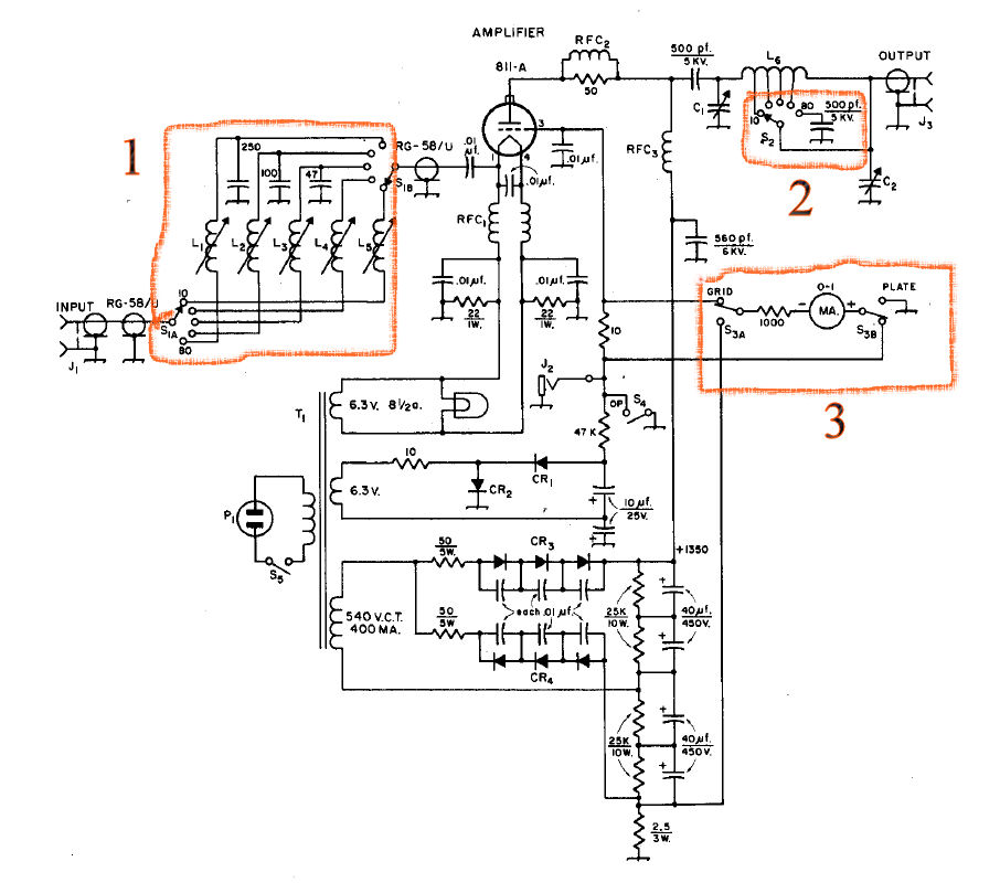 schematic of 200 watt amplifier